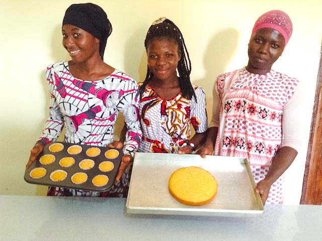 Bakery trainees looks happy for being able to make this cakes.jpg
