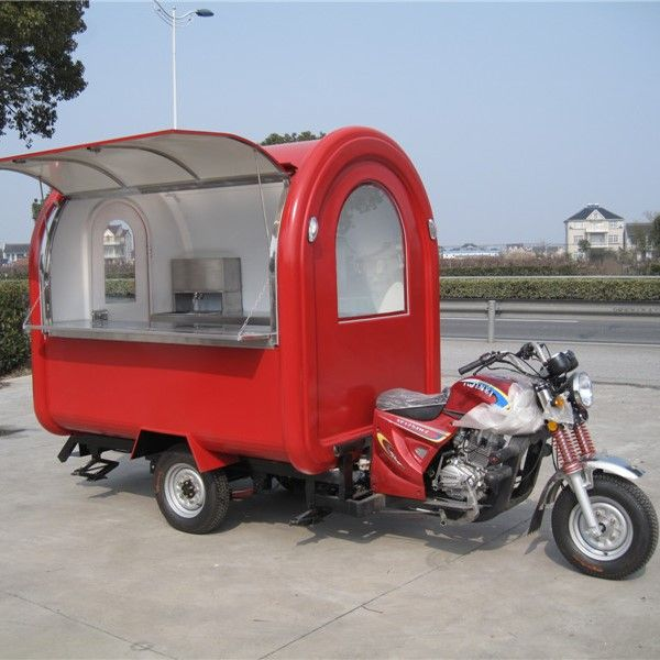 The food truck business will consist of two motorcycle towed food trucks.
