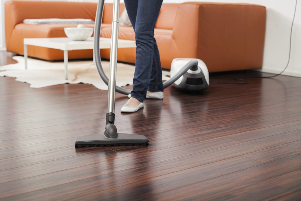 Vacuuming Hardwood