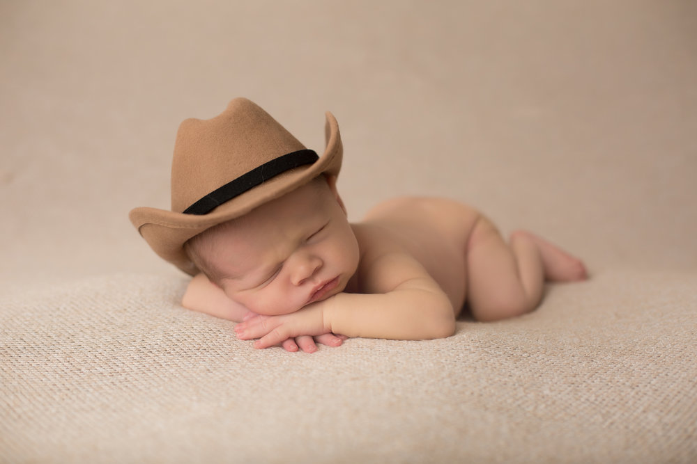 kansas city newborn photographer, cute baby pictures, overland park kansas, cowboy baby