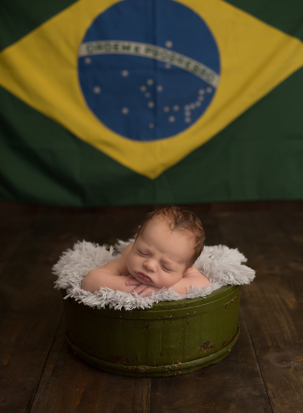 newborn baby brazilian flag