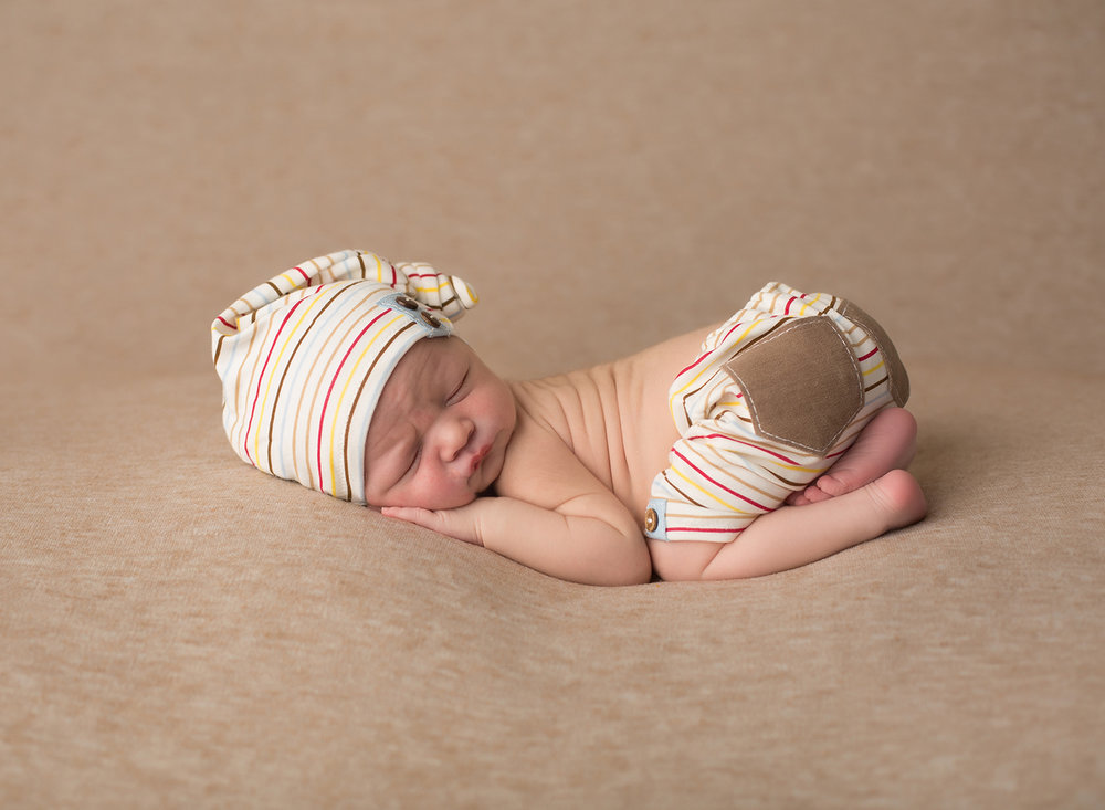 sleeping newborn baby boy