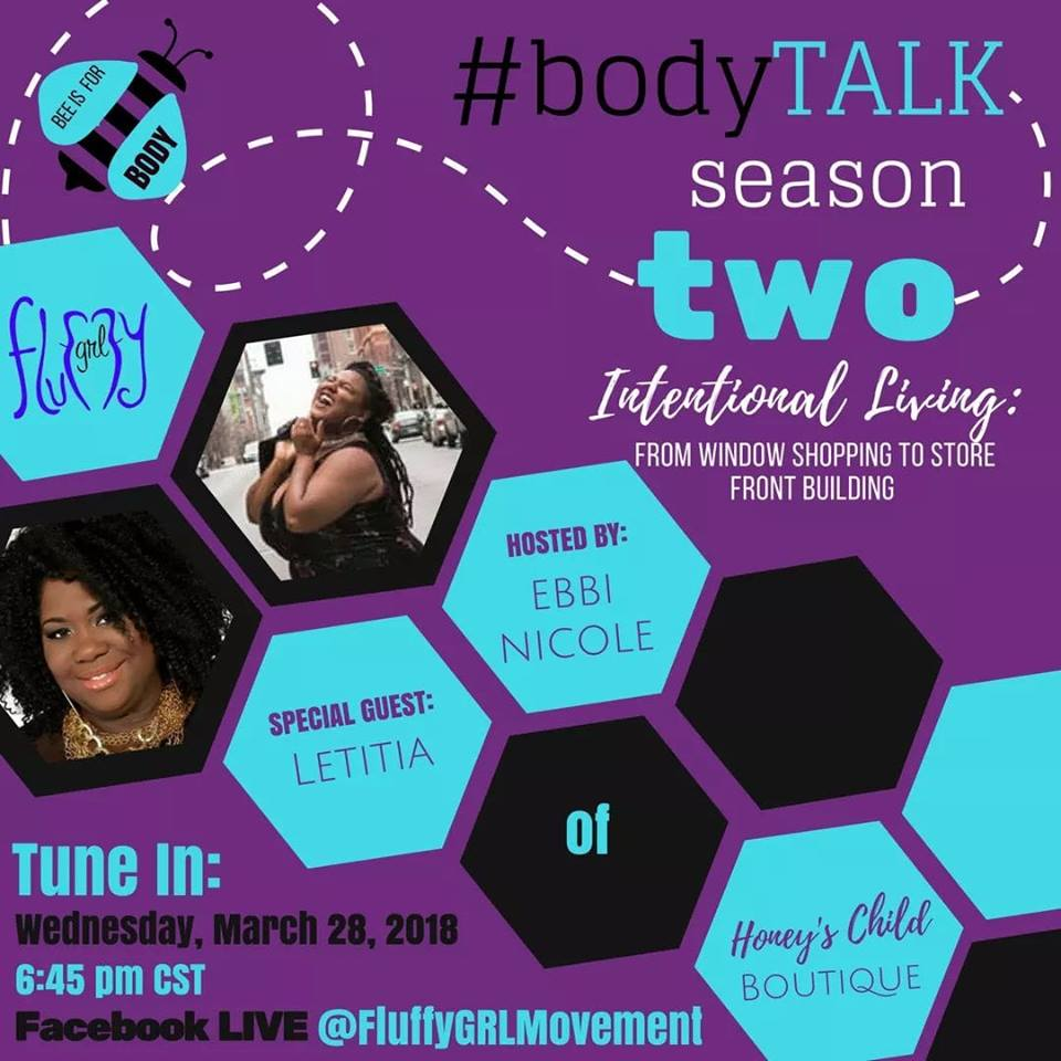Intentional Living: From Window Shopping to Storefront Building - Join us for a chat with our Fluff Gal Pal Letitia Mcpherson-Young of Honey's Child Boutique! In this episode we're discussing how she transformed her passion for fashion into her purpose by living intentionally and growing her love of self.