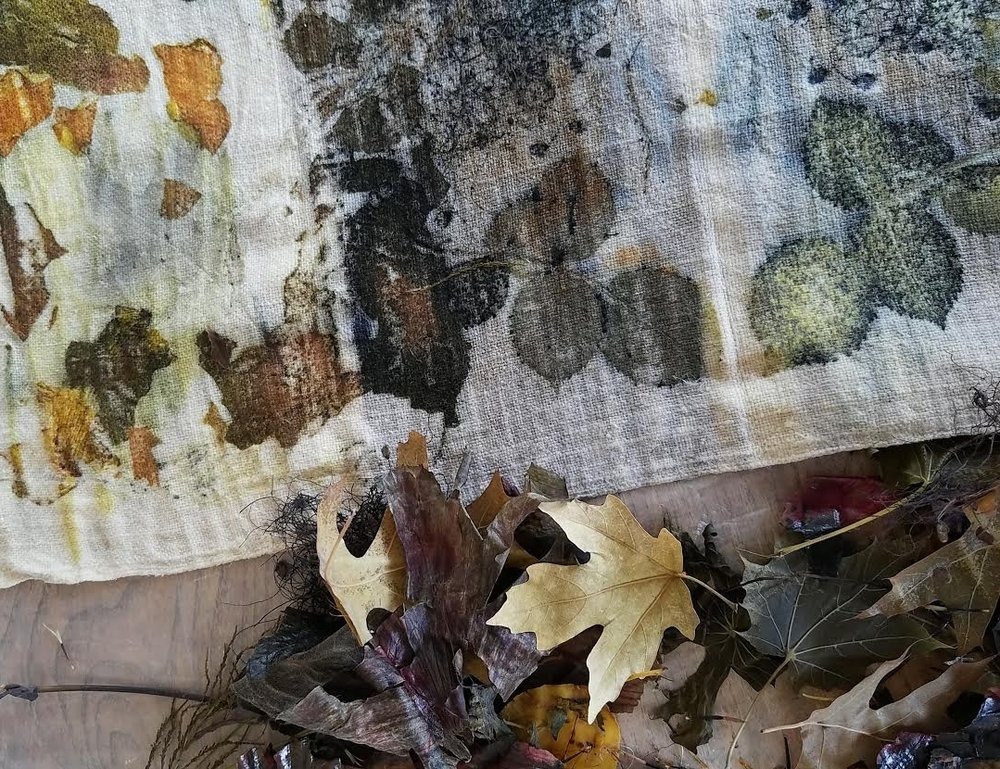Eco-Printing with Peggy Dlugos and New Hue Textile Studio; something to look forward to! | Image by Tess Murdoch