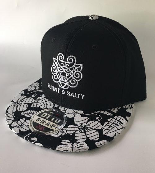 e72491573 Black Hat w/ Hawaiian Pattern Bill — Burnt & Salty
