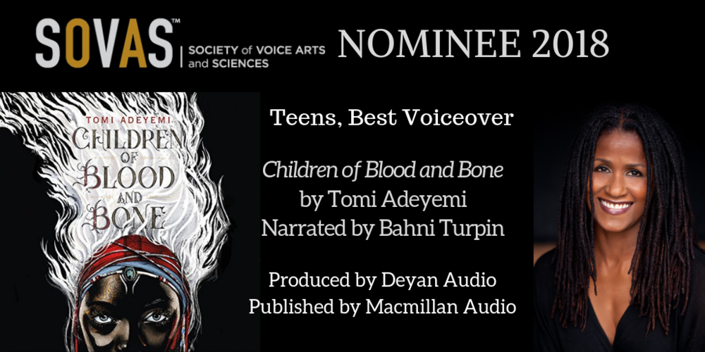 Children of Blood and Bone  //  Macmillan Audio  // Narrated by  Bahni Turpin  // Full Production