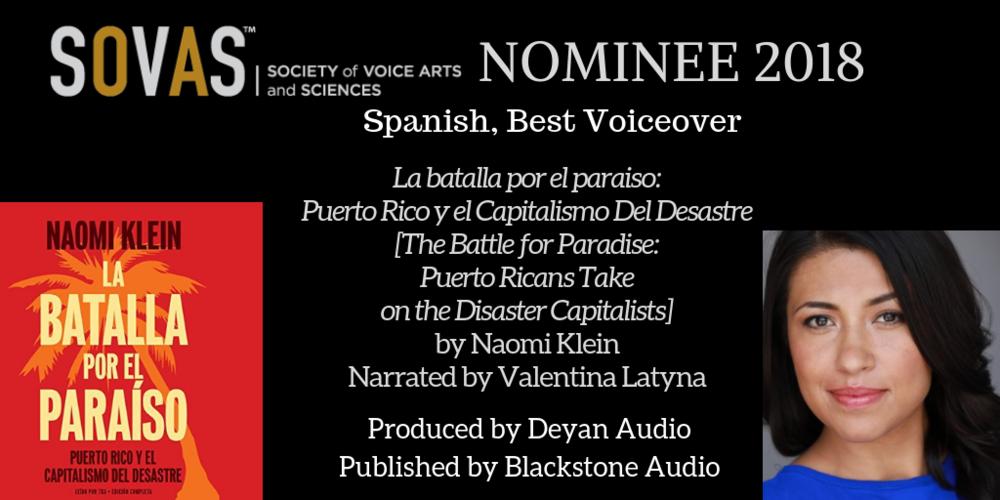 La batalla por el paraiso: Puerto Rico y el Capitalismo Del Desastre  //  Blackstone Audio  // Narrated by  Valentina Latyna  // Full Production