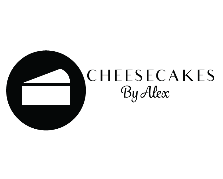 Cheesecakes by Alex Black and White Logo