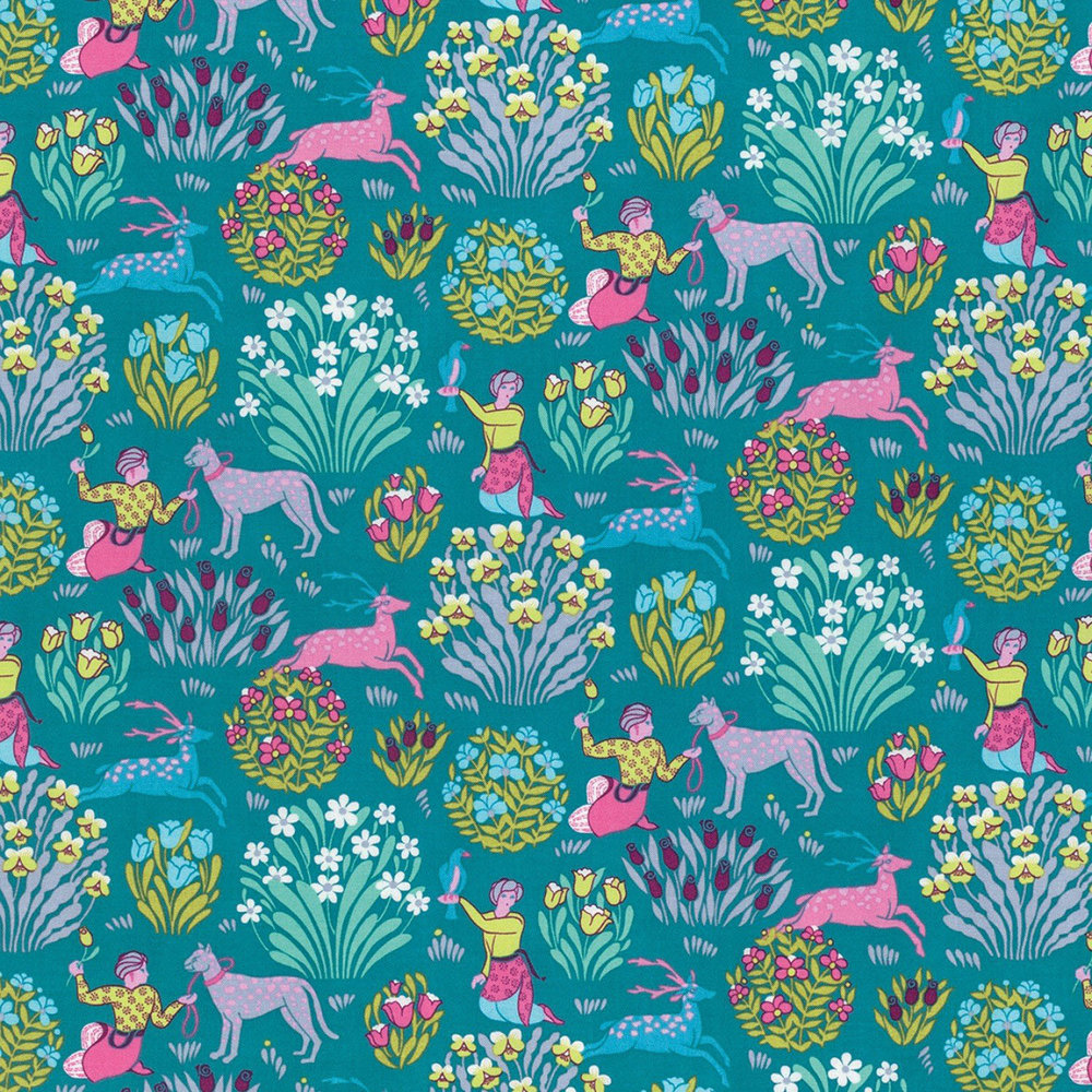 Free Spirit - Forest Friends, River by Amy Butler 100% Cotton $11.90/yd