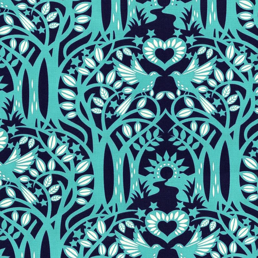 Free Spirit - Norwegian, Midnight by Heather Bailey 100% Cotton $11.90/yd