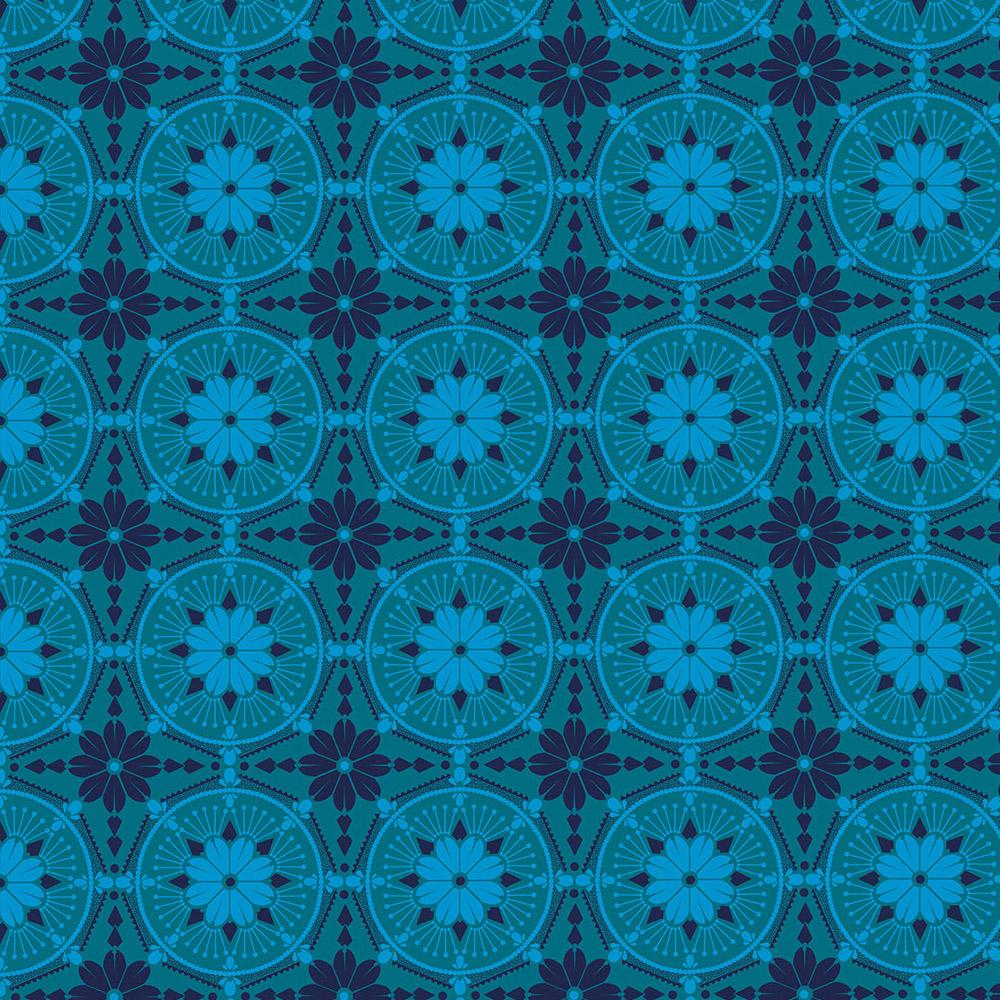 Free Spirit - Medallion, Aquamarine by Anna Maria Horner 100% Cotton $11.90/yd