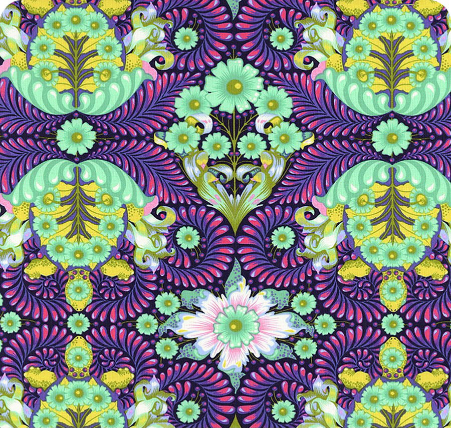 Free Spirit - The Tortoise, Blue Raspberry by Tula Pink 100% Cotton $11.90/yd