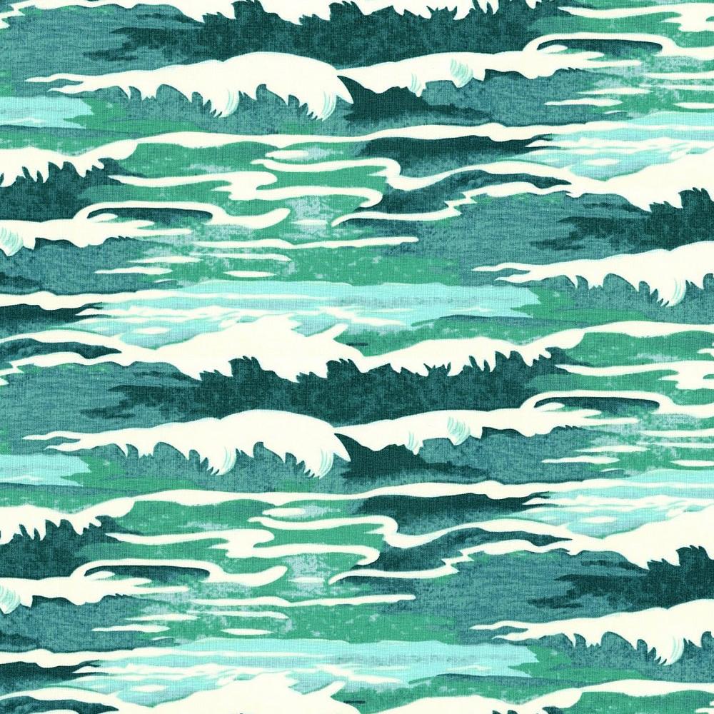 Tokyo Milk - Neptune & the Mermaid, Oceanus, Aqua by Margot Elena 100% Cotton $11.90/yd