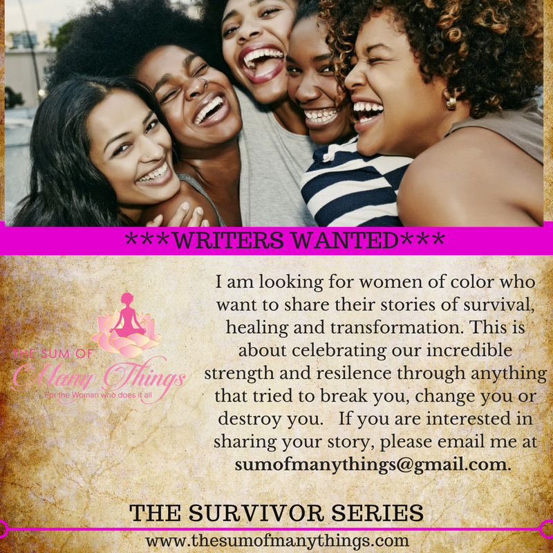 Tell Your Story! - If you or someone You know has a story of survival that you would be willing to share, email me today! Tell your story and help another woman heal!