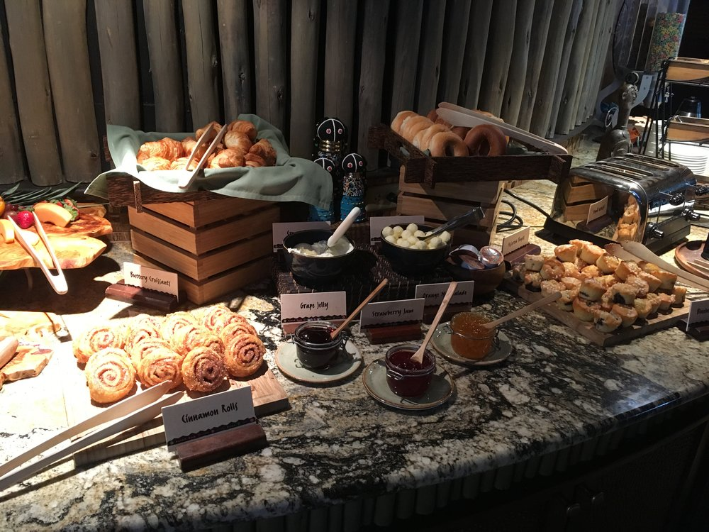 Some of the breakfast at AKL Kilimanjaro Club