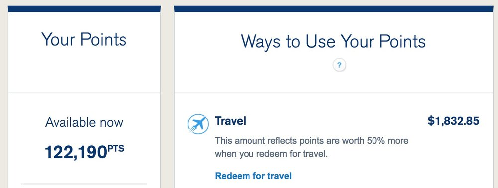 The Chase Sapphire Reserve gives my points great travel value!