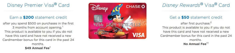 Screenshot from disneyrewards.com
