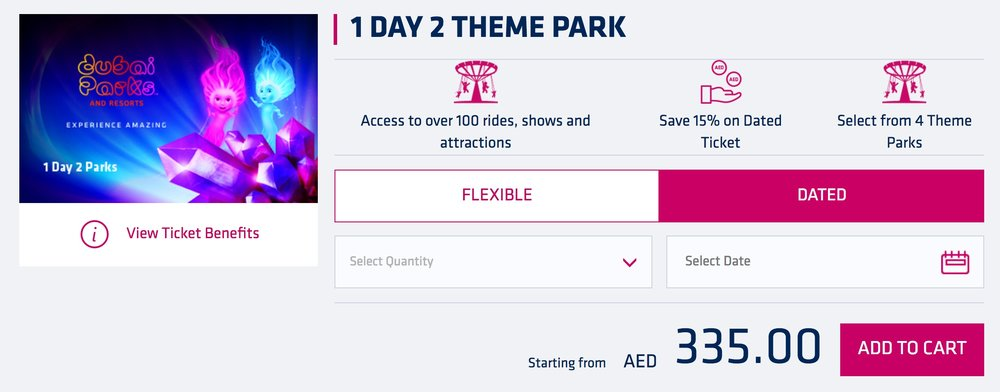 The only single-day, multi-park ticket option.