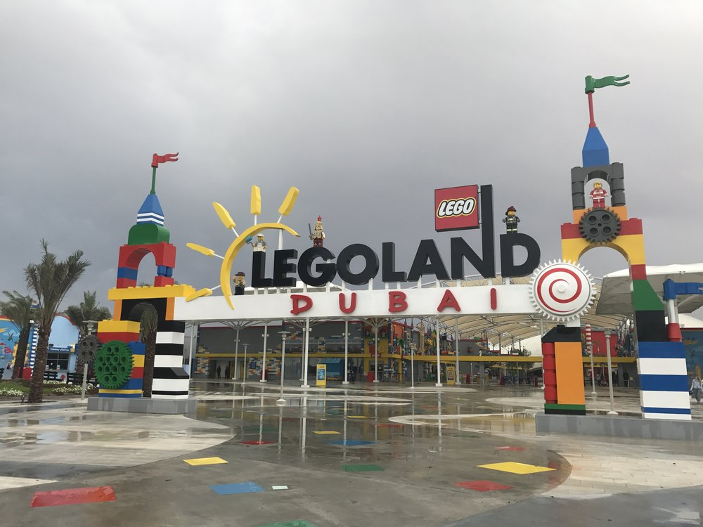 The entrance to Legoland