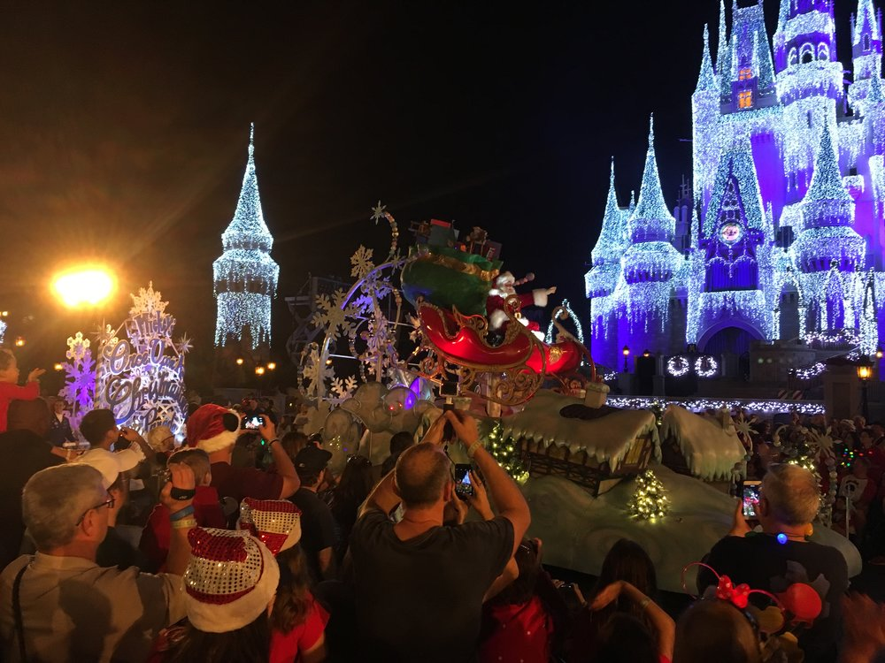 Santa makes an appearance at Mickey's Very Merry Christmas Party