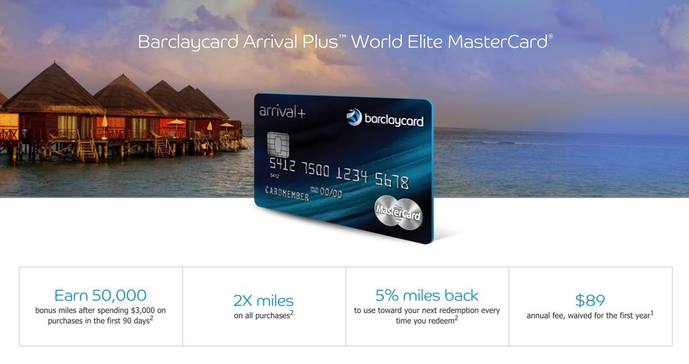 The Barclaycard Arrival Plus continues to have a generous signup bonus