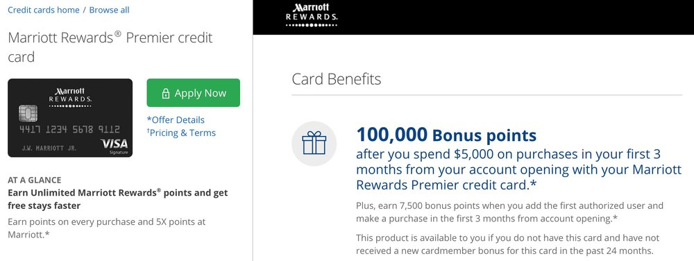 The Chase Marriott is currently offering a boosted 100,000 point bonus! Great for converted to Starpoints!