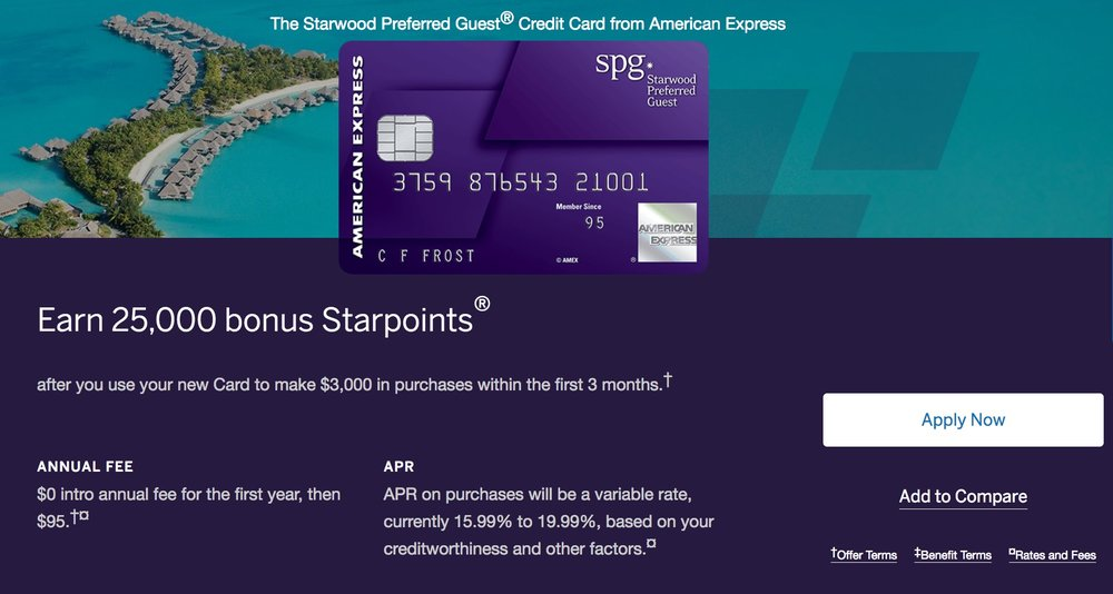 25,000 Starpoints is the standard offer for the SPG Amex, but it's still worth considering.
