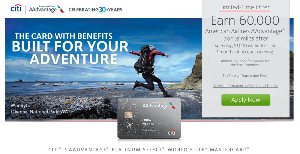 This public Citi AAdvantage link offers 60,000 bonus miles