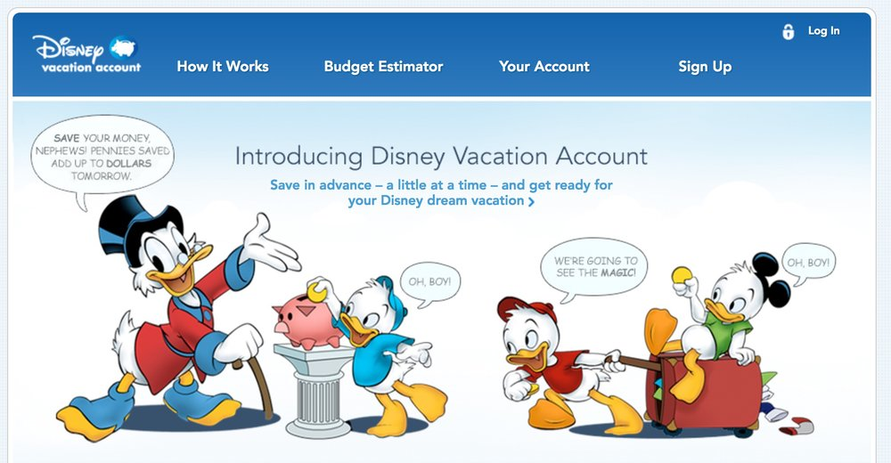 Disney tries to make saving fun with the Disney Vacation Account!