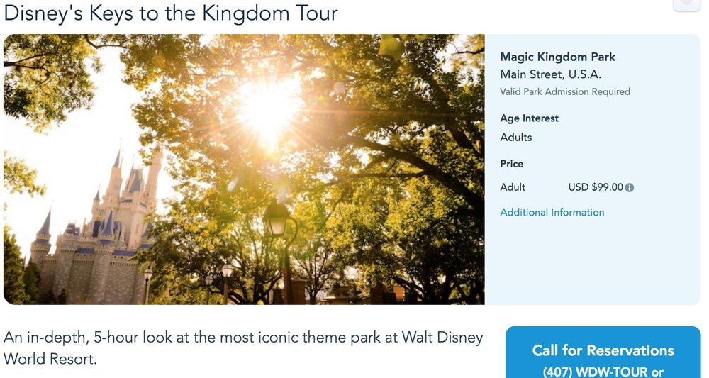 Unfortunately, you can't book Keys the the Kingdom online. Get ready for a long phone call!