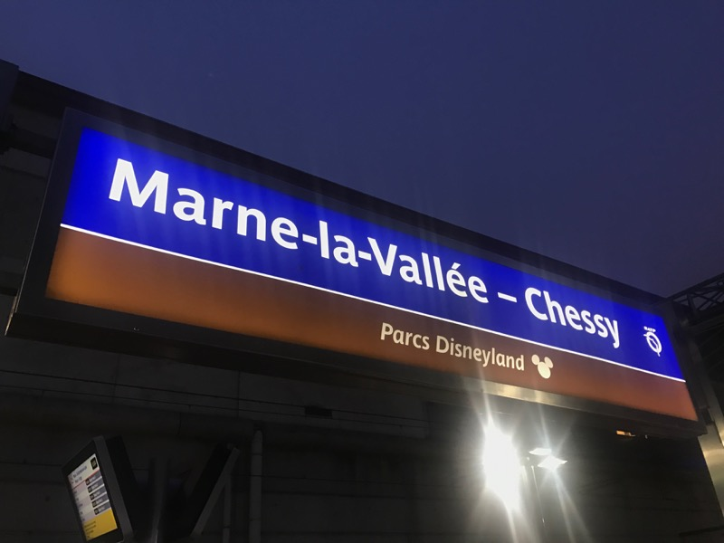 We had arrived at the correct train station for Disneyland Paris - Marne-la-Vallée - Chessy!