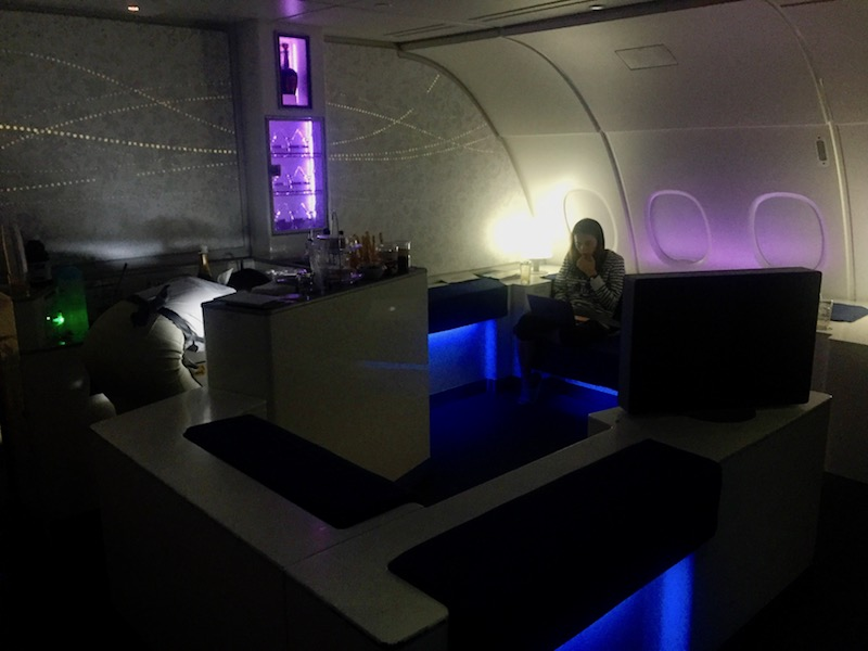 Fly Korean Air's A380 Business Class and enjoy their onboard lounge!