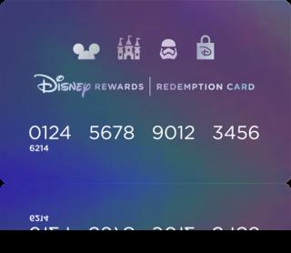 Disney Rewards Redemption Card