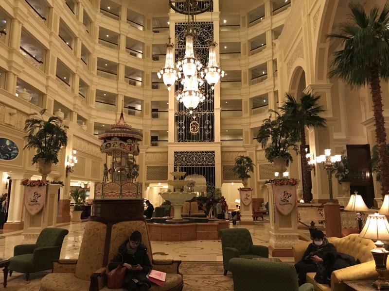 The grandiose lobby at Tokyo Disneyland Hotel