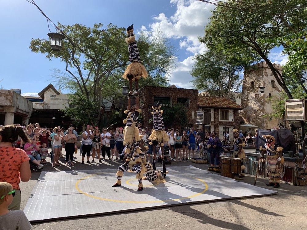 animal kingdom one day itinerary harambe acrobats.jpg