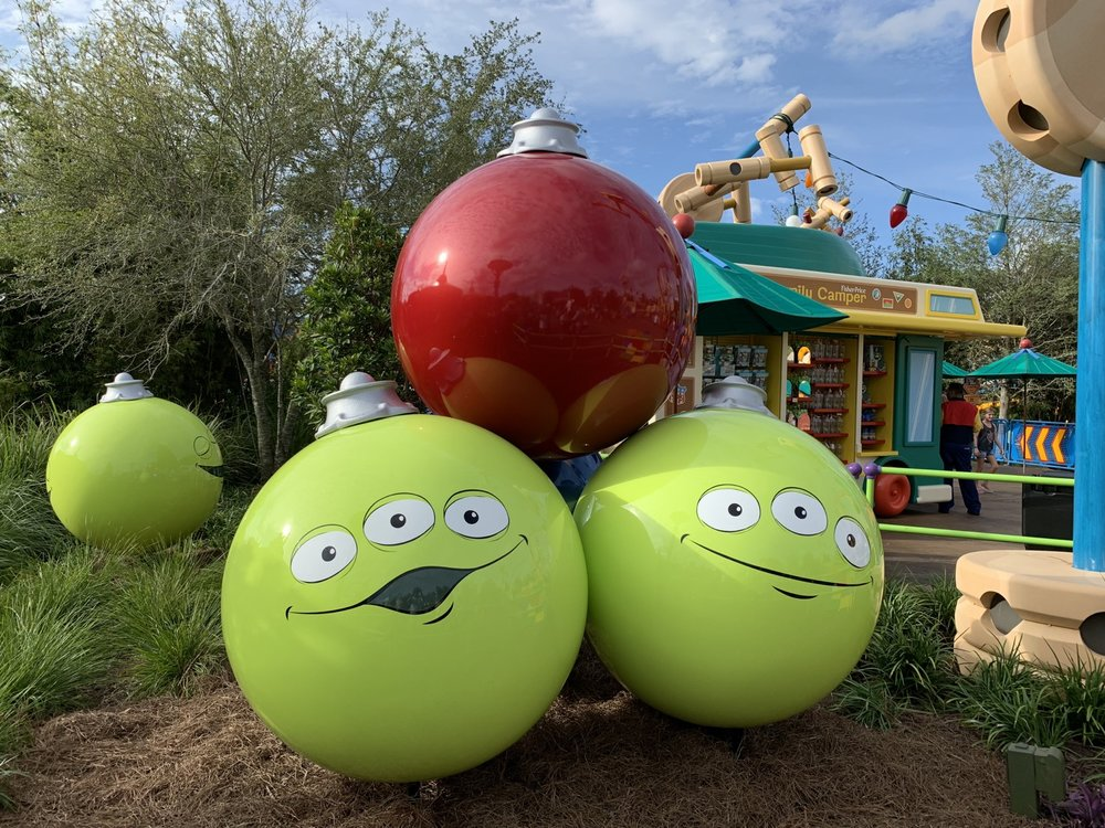 hollywood studios christmas toy story land 3.JPG