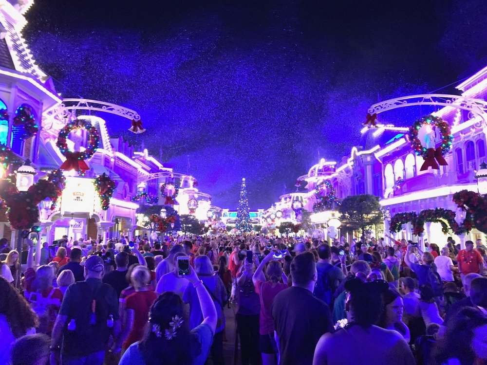 mickeys very merry christmas party snow 2.JPG