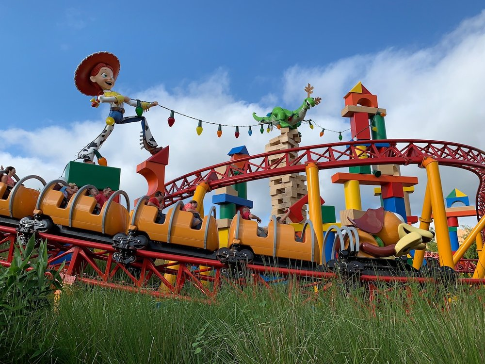 hollywood studios christmas toy story land.JPG