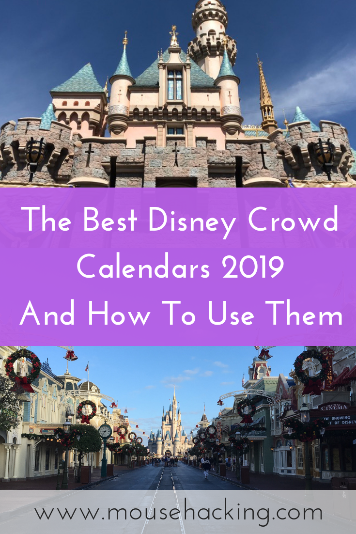 Best Disney World And Disneyland Crowd Calendars 2019 Mouse