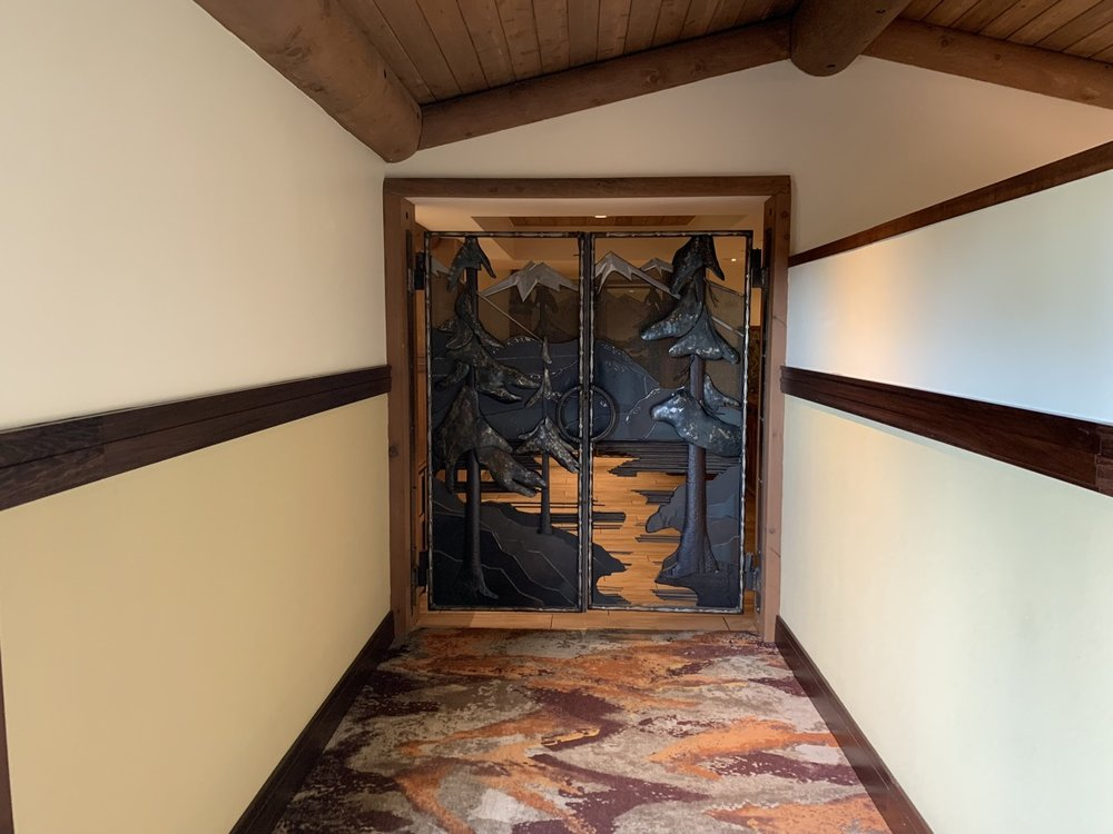 The Old Faithful Club Lounge serving area gate!