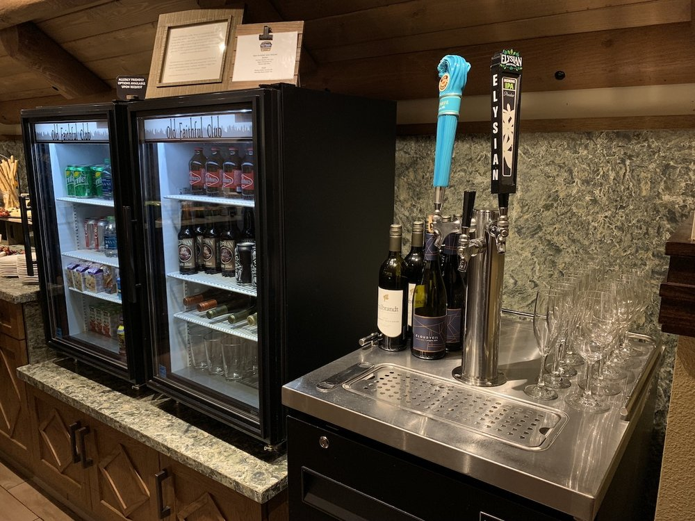 The Old Faithful Club has beer on tap!