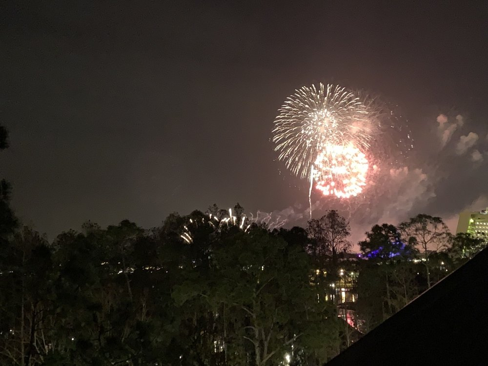 Happily Ever After seen from Old Faithful Club Balcony.