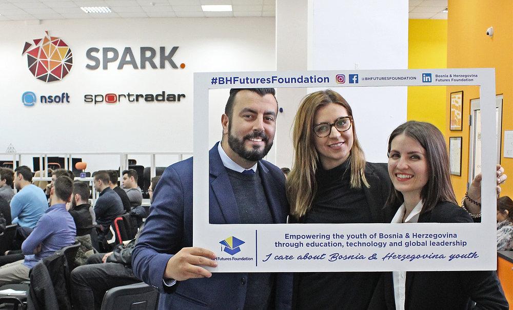 Our Eddie Custovic with Ema Bukovica and Dijana Duvnjak