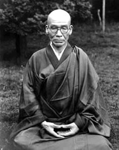 Uchiyama Roshi's teacher, Kodo Sawaki Roshi sitting zazen.