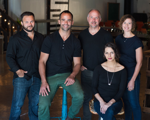 The Impact Hub Austin Co-Founding Team: Steve Wanta, Brian Schoenbaum, Scott Collier, Christina Mirando, Chelsea McCullough