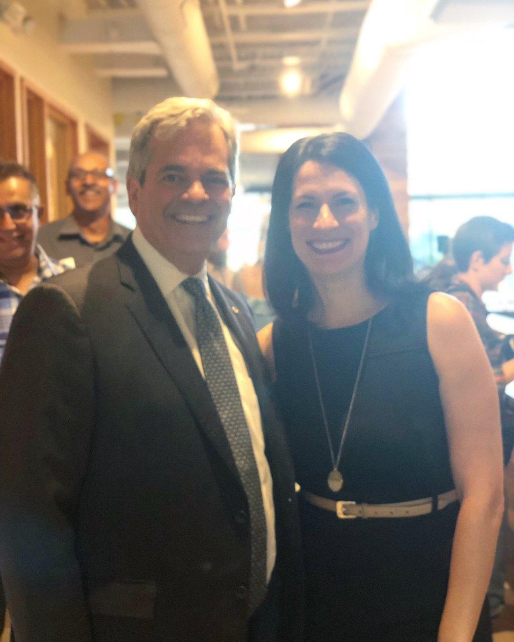 Managing Director,Ashley Philips with Austin Mayor, Steve Adler