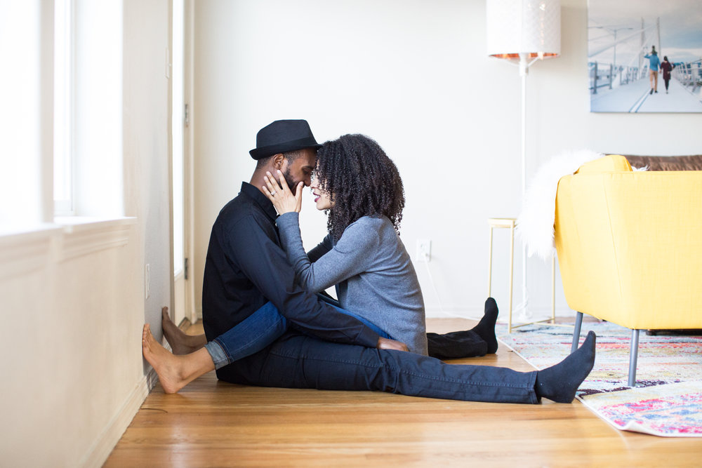 lifestyle in home session portland oregon black love