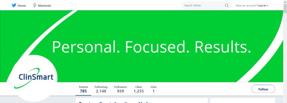 ClinSmart's custom Twitter banner