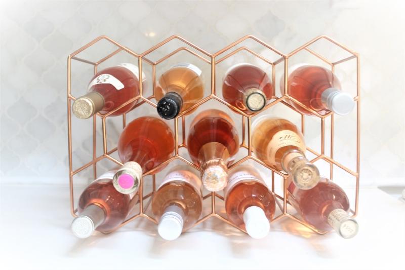 rosé wine rack