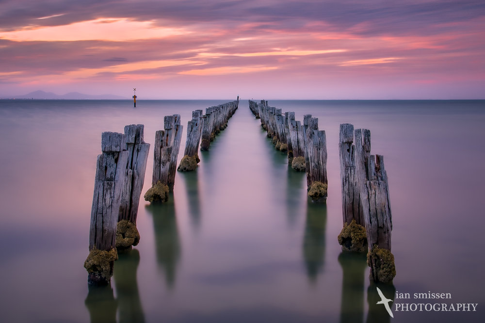 Clifton Springs Jetty after sunset